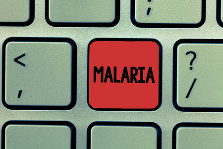 Writing note showing Malaria. Business photo showcasing Life threatening mosquito borne blood disease Periods of fever.