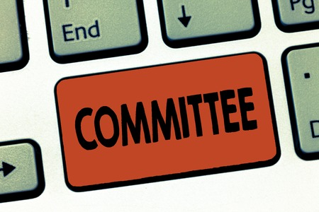 Text sign showing Committee. Conceptual photo Group of showing appointed for a specific function Company teamwork.