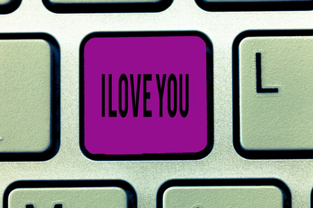 Writing note showing I Love You. Business photo showcasing Expressing roanalysistic feelings for someone Positive emotion. Stock fotó