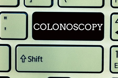 Text sign showing Colonoscopy. Conceptual photo Endoscopic examination of the large bowel Colon diagnosis.
