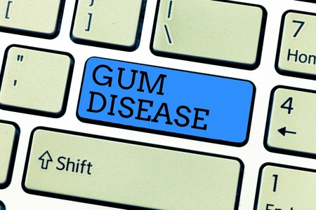 Handwriting text writing Gum Disease. Concept meaning Inflammation of the soft tissue Gingivitis Periodontitis.