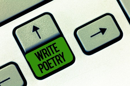 Writing note showing Write Poetry. Business photo showcasing Writing literature roanalysistic melancholic ideas with rhyme.
