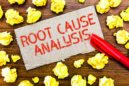 Text sign showing Root Cause Analysis. Conceptual photo Method of Problem Solving Identify Fault or Problem.