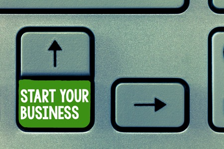 Text sign showing Start Your Business. Conceptual photo going into a New Venture Create New Product Services.
