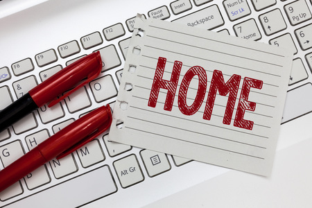 Word writing text Home. Business concept for place where one lives permanently Born Country Family friends exist.