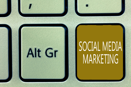 Text sign showing Social Media Marketing. Conceptual photo use of Website and Network to promote Product Service.