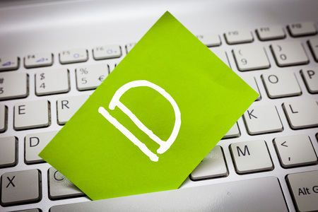 Handwriting text Id. Concept meaning A card or document that serves to identify a demonstrating Proof of identity. Stock Photo