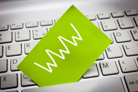 Handwriting text Www. Concept meaning Network of online content Formatted in HTML and accessed via HTTP.