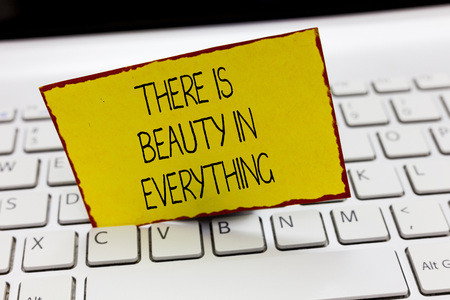 Handwriting text writing There Is Beauty In Everything. Concept meaning world is an Endless array of Magic and Wonder.