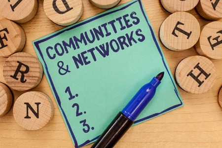Handwriting text Communities and Networks. Concept meaning Collaboration of Learnings and Practices of Members.