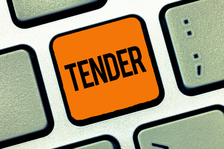 Word writing text Tender. Business concept for showing gentleness kindness and affection sensitive to pain.