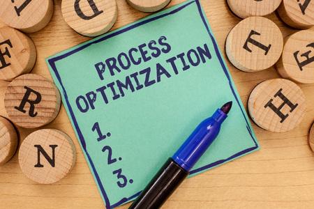 Handwriting text Process Optimization. Concept meaning Improve Organizations Efficiency Maximize Throughput. 스톡 콘텐츠
