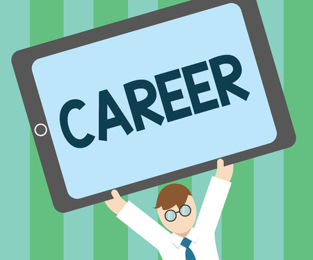 Word writing text Career. Business concept for undertaken for period persons life with opportunities for progress.. 스톡 콘텐츠