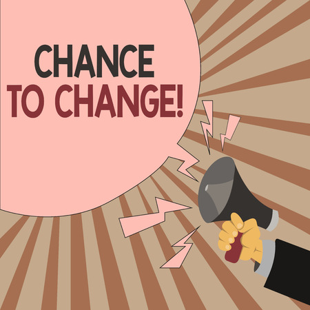 Word writing text Chance To Change. Business concept for The opportunity for transformation New Business Ideas.