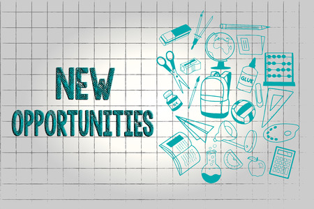 Text sign showing New Opportunities. Conceptual photo A situation that makes it possible to do something.
