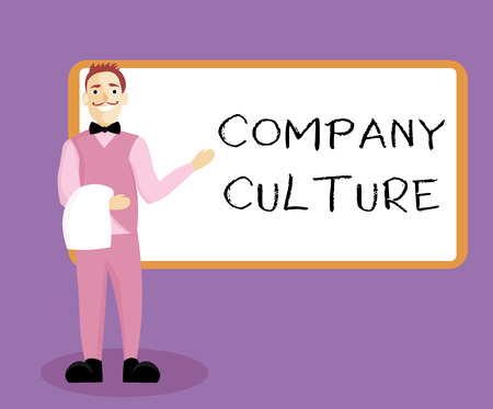 Writing note showing Company Culture. Business photo showcasing The environment and elements in which employees work. Imagens