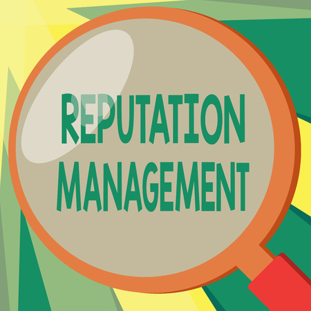 Conceptual hand writing showing Reputation Management. Business photo showcasing Influence and Control the Image Brand Restoration. Фото со стока