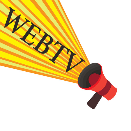 Handwriting text writing Webtv. Concept meaning Internet transmission programs produced both online and traditional. Banco de Imagens