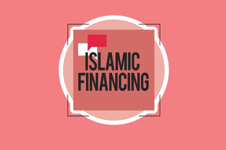 Conceptual hand writing showing Islamic Financing. Business photo showcasing Banking activity and investment that complies with sharia.