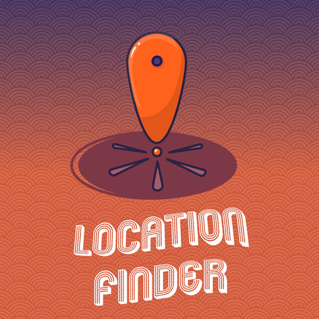 Text sign showing Location Finder. Conceptual photo A service featured to find the address of a selected place.