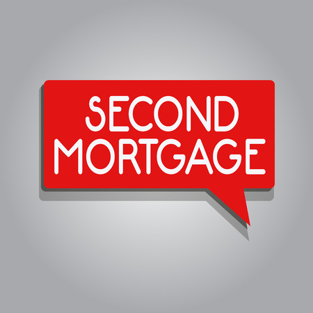 Writing note showing Second Mortgage. Business photo showcasing lien on property which is subordinate to more senior one.