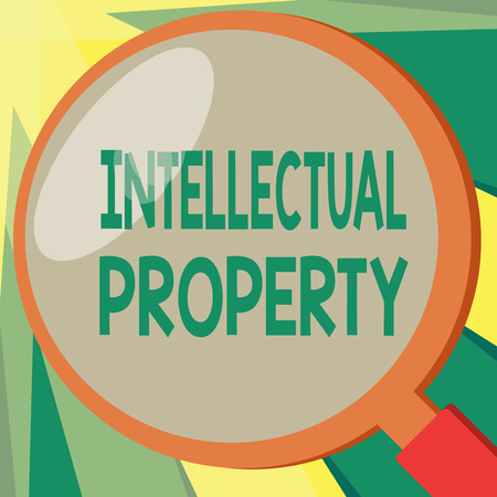 Conceptual hand writing showing Intellectual Property. Business photo showcasing Protect from Unauthorized use Patented work or Idea.
