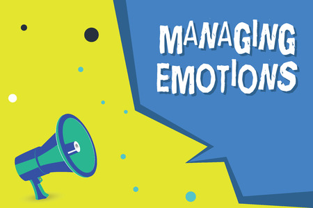 Word writing text Managing Emotions. Business concept for Controlling feelings in oneself Maintain composure.