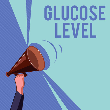 Text sign showing Glucose Level. Conceptual photo Amount of glucose in the blood Reactive hyperglycemia.