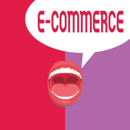 Writing note showing E Commerce. Business photo showcasing Commercial transactions conducted electronically on the Internet.