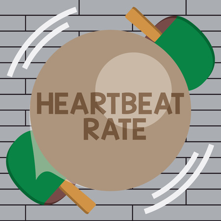 Handwriting text writing Heartbeat Rate. Concept meaning measured by number of times the heart contracts per minute.