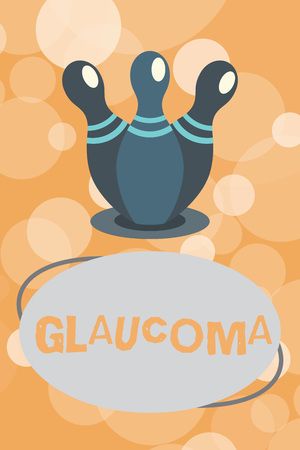 Text sign showing Glaucoma. Conceptual photo Eye diseases which result in damage to the optic nerve Vision loss.
