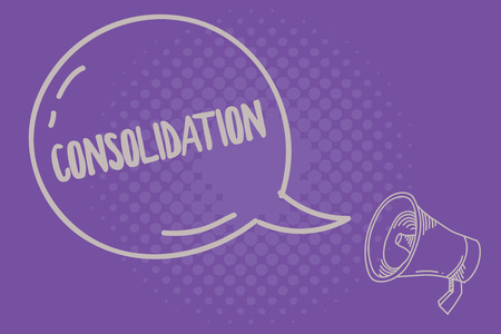 Text sign showing Consolidation. Conceptual photo Action or process of making something stronger or more solid.