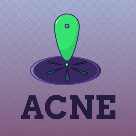 Word writing text Acne. Business concept for Skin disease involving the oil glands at the base of hair follicles.