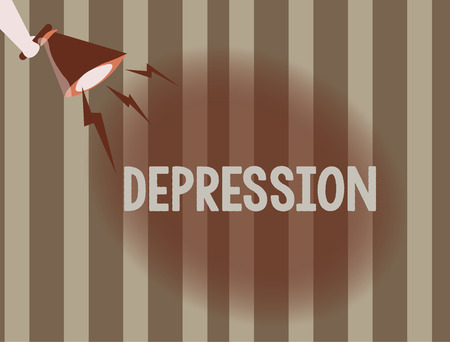 Text sign showing Depression. Conceptual photo Feelings of severe despondency and dejection Mood disorder.