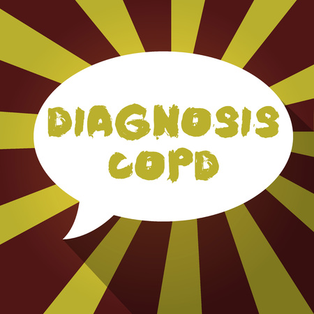 Text sign showing Diagnosis Copd. Conceptual photo obstruction of lung airflow that hinders with breathing.