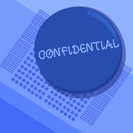 Text sign showing Confidential. Conceptual photo Something intended to be kept as a secret Private information. Imagens