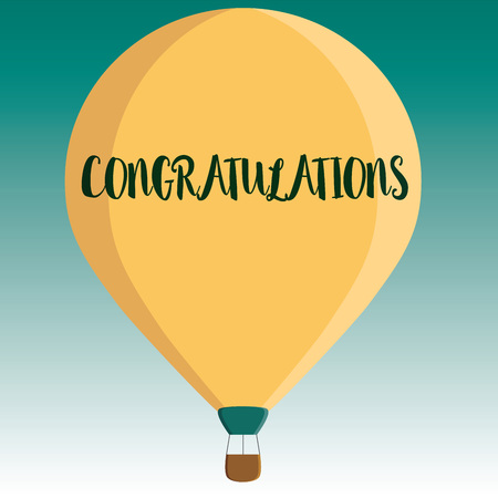 Handwriting text Congratulations. Concept meaning Expressing praise for an achievement of someone Good wishes.