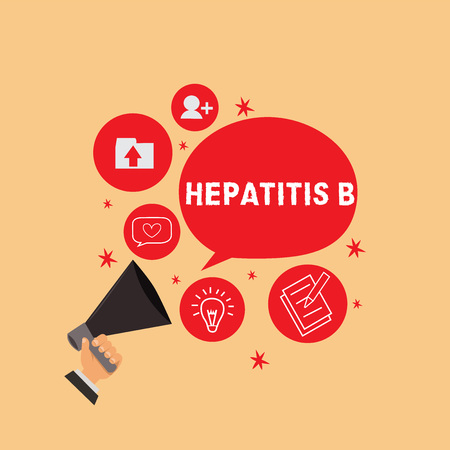 Handwriting text writing Hepatitis B. Concept meaning Severe form of viral hepatitis transmitted in infected blood.