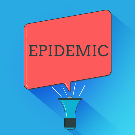 Writing note showing Epidemic. Business photo showcasing Widespread occurrence of an infectious disease in a community.