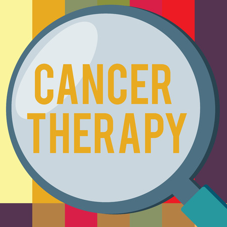 Word writing text Cancer Therapy. Business concept for Treatment of cancer in a patient with surgery Chemotherapy.