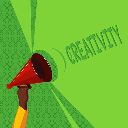 Handwriting text writing Creativity. Concept meaning Use of imagination or original ideas to create something. 스톡 콘텐츠