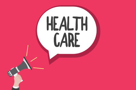 Word writing text Health Care. Business concept for Medical Maintenance Improvement of Physical Mental conditions.