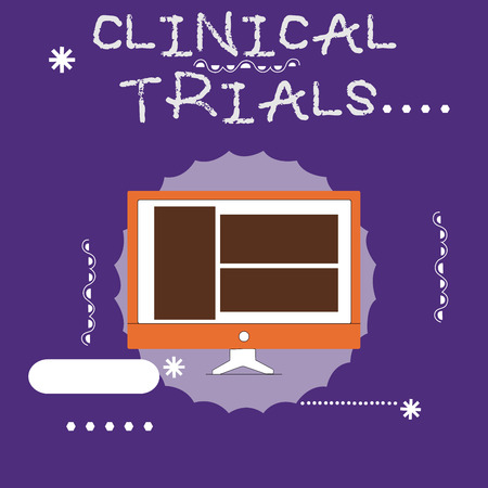 Writing note showing Clinical Trials. Business photo showcasing Research investigation to new treatments to showing.