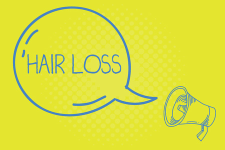 Word writing text Hair Loss. Business concept for Loss of huanalysis hair from the head or any part of the body Balding. Stock Photo