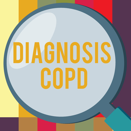 Word writing text Diagnosis Copd. Business concept for obstruction of lung airflow that hinders with breathing. Standard-Bild - 111281362