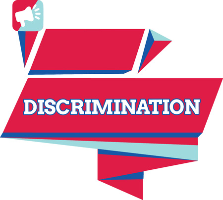 Text sign showing Discrimination. Conceptual photo Prejudicial treatment of different categories of showing. Imagens