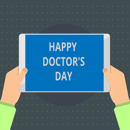 Text sign showing Happy Doctor s is Day. Conceptual photo holiday that honors physicians for the work they do. 免版税图像