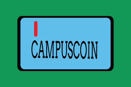 Conceptual hand writing showing Campuscoin. Business photo showcasing Decentralized cryptocurrency to be used by college students.