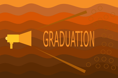 Text sign showing Graduation. Conceptual photo Receiving or conferring of academic degree diploma certification.