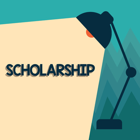 Conceptual hand writing showing Scholarship. Business photo showcasing Grant or Payment made to support education Academic Study. Stok Fotoğraf